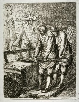 Cloth-shearers from the series Crafts and Trades (reverse copy)