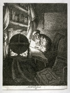 Sight, and old scholar reading from the series The Five Senses (reverse copy)