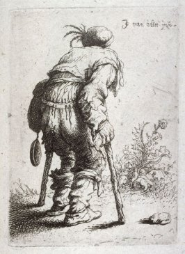 Beggar with Two Crutches from the series Beggars and other low life