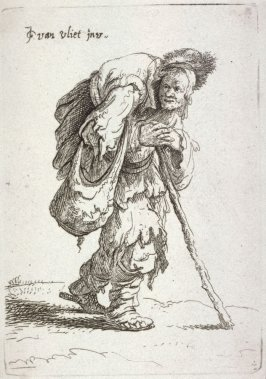 Humpbacked beggar from the series Beggars and other low life