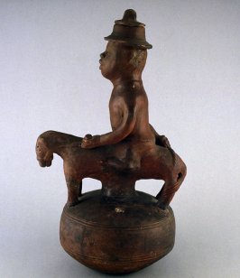 Male equestrian figure