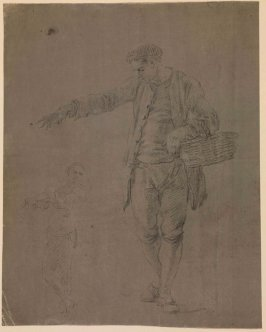 Study of a Male Figure with Basket