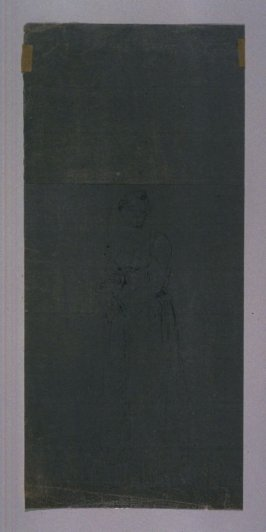 Study of a Standing Female Figure, Arms Crossed at the Waist