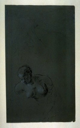 Study of a Female Nude (recto); Charicatures (verso)