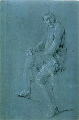 Study of a Fisherman, holding line in his right hand