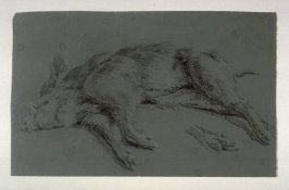Figure and Animal StudiesRecto: Dead BoarVerso: Anatomical drawing of hind leg, with notations