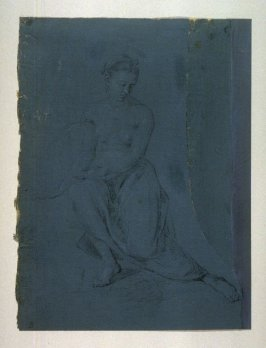 Seated Half-draped female figure