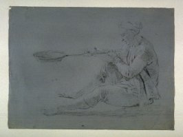 Study of Male Figure Holding a Pan