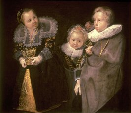 Group Portrait of Three Children