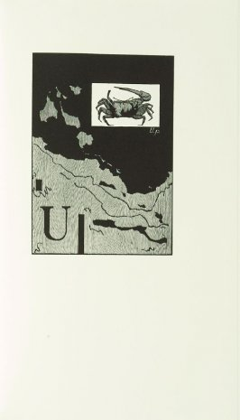 """""""Fiddler crab, Uca princeps monilifera,"""" in the book Zebra Noise with a flatted seventh by Richard Wagener (Berkeley, CA: Peter Koch, 1998)"""
