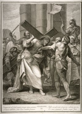 Christ Stumbling under the Weight of the Cross, Station IX from a series, Via Crucis