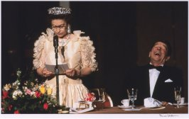 Court Jester (Queen Elizabeth II and Ronald Reagan, de Young Museum, San Francisco, March 3, 1983).