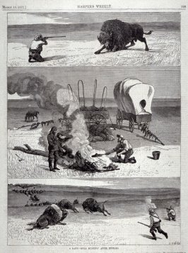 "A day's ""Still Hunting"" after Buffalo - from Harper's Weekly, (March 10. 1877, p. 193"