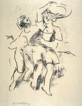 Untitled [dancing couple] - Illustration to a poem by Goethe