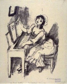 An Lina - Illustration to a poem by Goethe