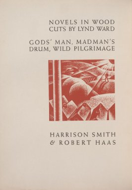 Verso illustration to title page, in the book Wild Pilgrimage by Lynd Kendall Ward (New York: Harrison Smith & Robert Haas, 1932)