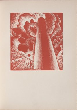 Untitled, illustration 9, in the book Wild Pilgrimage by Lynd Kendall Ward (New York: Harrison Smith & Robert Haas, 1932)