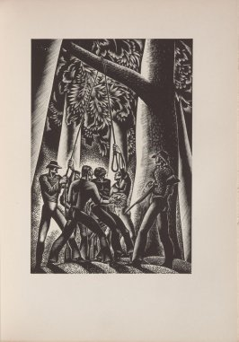 Untitled (Lynching Scene), illustration 17, in the book Wild Pilgrimage by Lynd Kendall Ward (New York: Harrison Smith & Robert Haas, 1932)