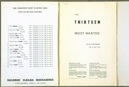 Illustration in The Thirteen Most Wanted Men (Liste des Oeuvres Exposées): Dossier No. 2357 Andy Warhol