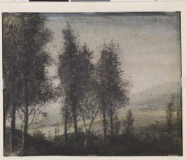 Verso: Trees in a Hilly Landscape