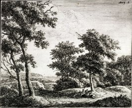 Les deux patres au pied de l'arbre (The two herdsmen at the foot of the tree)