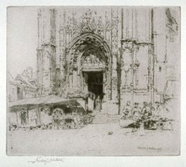 Entrance door of Notre Dame, Neufchatel, 1905
