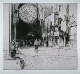Interior of a Cathedral, Venice