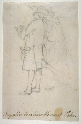 Study of Two Standing Figures (soldier and woman)