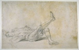 Study of a Male Figure Being Dragged by a Horse
