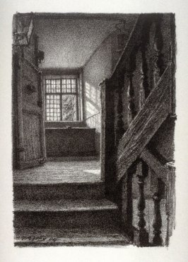 Staircase, Clifford's Inn, fifteenth plate from the portfolio Sketches Made on the Lithography Night 14 April 1905 by Members of the Art Workers Guild, Clifford Inn Hall and Published for the Benefit of the Chest