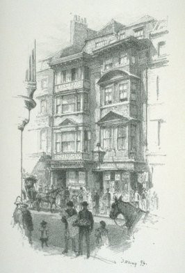 Houses on the North Side of the Strand, frontispiece and plate 1 in the book Reliques of Old London with introduction and descriptions by Henry B. Wheatley (London: George Bell & Sons, 1896)