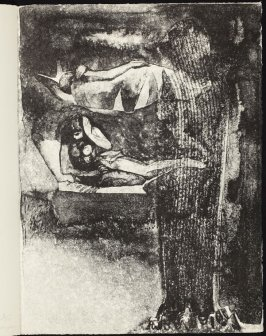 Plate accompanying the poem The Apparition on page 73, eleventh plate in the portfolio Songs and Sonnets by John Donne (Paris: 1959)