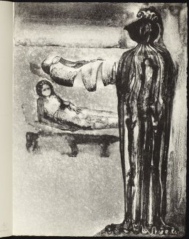 The Apparition, second rejected lithograph, seventeenth plate in the portfolio Songs and Sonnets by John Donne (Paris: 1959)