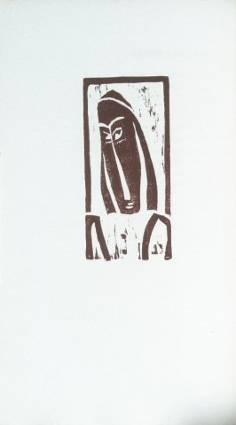 """Head and Shoulders of Figure"" in the book Primitives: Poems and Woodcuts by Max Weber (New York: Spiral Press, 1926)."