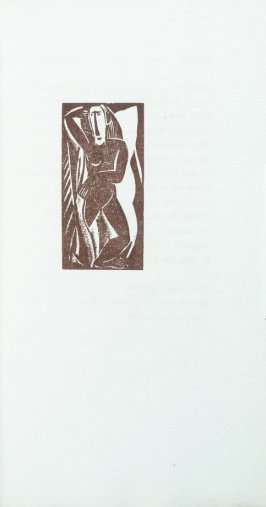 """Standing nude"" in the book Primitives: Poems and Woodcuts by Max Weber (New York: Spiral Press, 1926)."