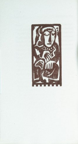 """Seated Woman"" in the book Primitives: Poems and Woodcuts by Max Weber (New York: Spiral Press, 1926)."