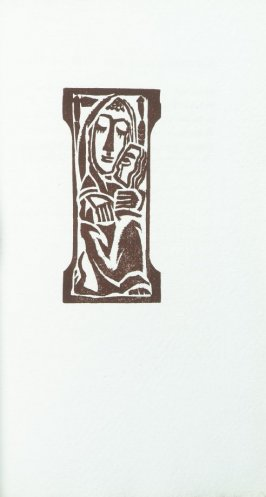"""Mother and Child"" in the book Primitives: Poems and Woodcuts by Max Weber (New York: Spiral Press, 1926)."
