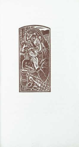 """Mother Love"" in the book Primitives: Poems and Woodcuts by Max Weber (New York: Spiral Press, 1926)."