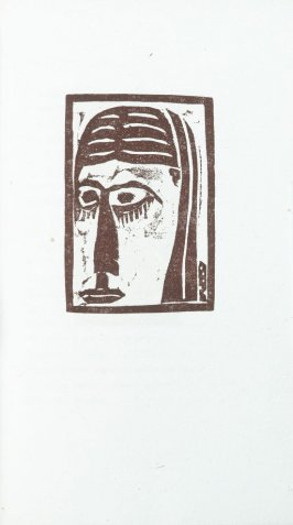 """Head"" in the book Primitives: Poems and Woodcuts by Max Weber (New York: Spiral Press, 1926)."