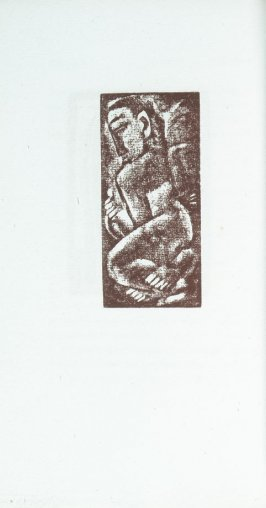 """Crouching Nude"" in the book Primitives: Poems and Woodcuts by Max Weber (New York: Spiral Press, 1926)."