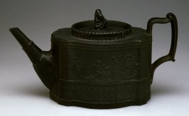 Teapot and lid with mythological figures