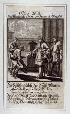 Der Rath, plate 3 from the book Etwas für Alle … Stands- Ambts- Bewerbs-Persohnen…by Father Abraham à Santa Clara (Nuremberg: Christoph Weigel, [1699])