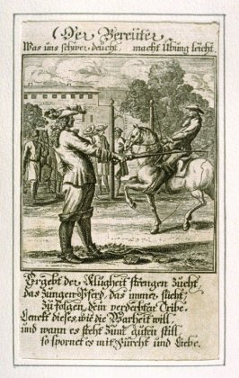 Der Bereuter, plate 18 from the book Etwas für Alle … Stands- Ambts- Bewerbs-Persohnen…by Father Abraham à Santa Clara (Nuremberg: Christoph Weigel, [1699])