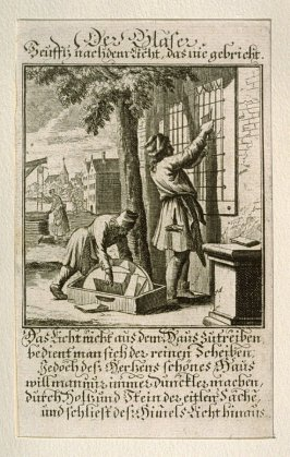 Der Glaser, plate 68 from the book Etwas für Alle … Stands- Ambts- Bewerbs-Persohnen…by Father Abraham à Santa Clara (Nuremberg: Christoph Weigel, [1699])
