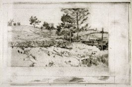 Landscape (sketch of fields)