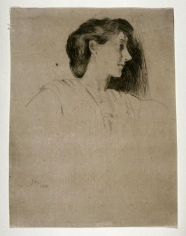Study of a Woman's Head in Profile