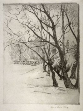 Untitled (trees and gabled houses)