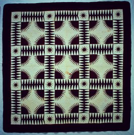 """Quilt top: """"New York Beauty"""" pattern"""