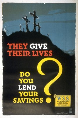 They give their lives- World War I poster