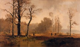 Moor with Hunters and Dogs
